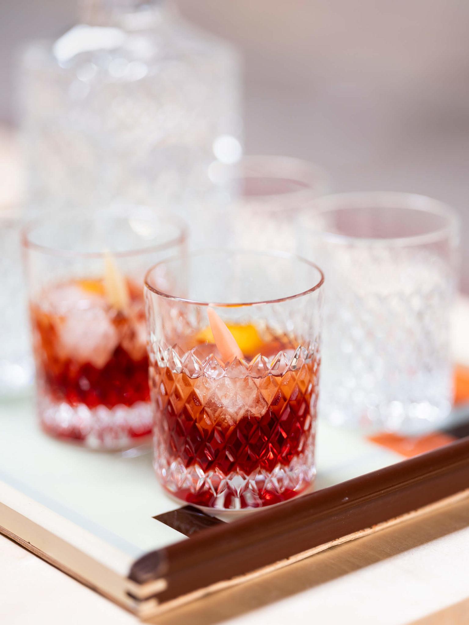 Gläser mit frischen Coctails